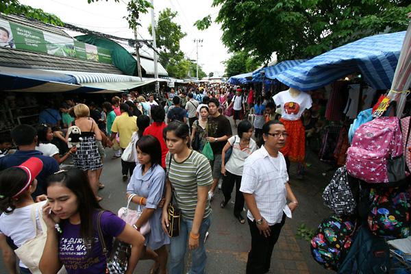 People in Chatuchak weekend market