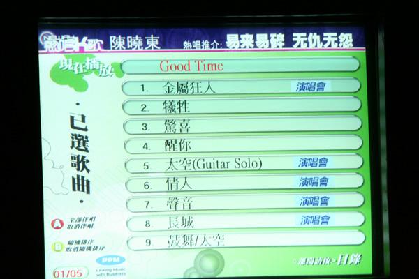Songs selected