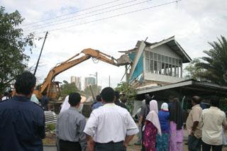 Kampung Berembang - surau demolished