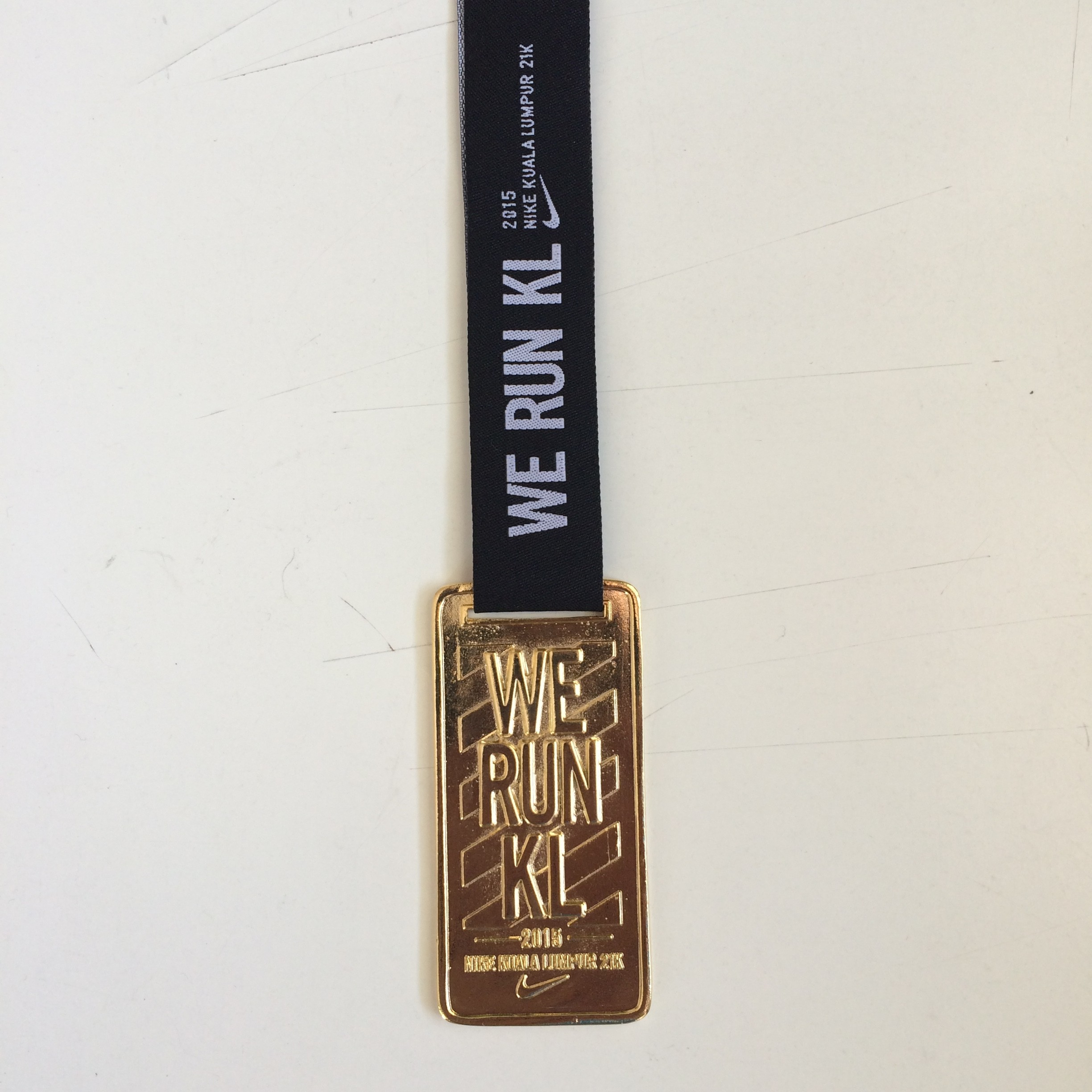 Nike We Run KL 2015 - the medal